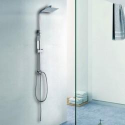 Colonna doccia in acciaio con soffione inox 20x20 modello V300C