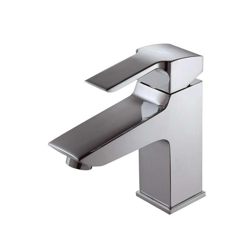 Miscelatore lavabo design minimale modello Fleur-L kamalubagno