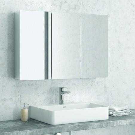 Specchio bagno contenitore da 120cm con 3 ante modello E1200