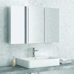 Specchio contenitore 100cm con 3 ante modello E1000
