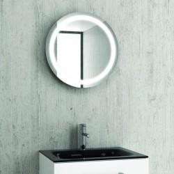 Specchio bagno led tondo con contenitore KAM-138