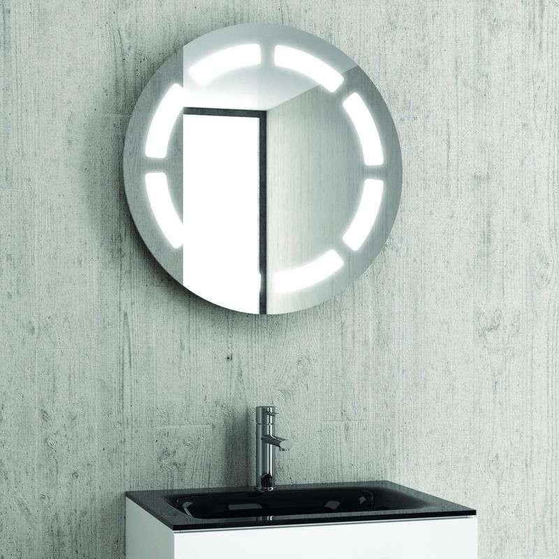 Specchio contenitore tondo diametro 63cm Led | Kamalu Bagno Online