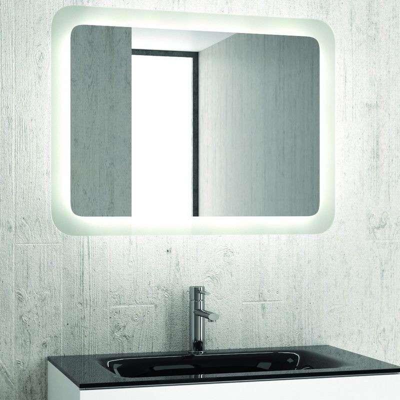 Specchio Bagno Led.Specchio Bagno Led 100x60 Cm Reversibile Offerta Kamalu Bagno