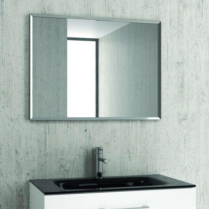 Specchio bagno semplice rettangolare 80x60cm KAM-140 kamalu