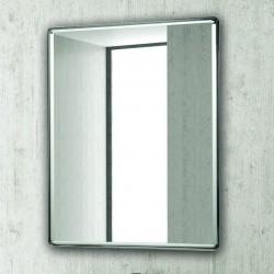 Specchio bagno 80x60 con finitura cromata KAM-1433