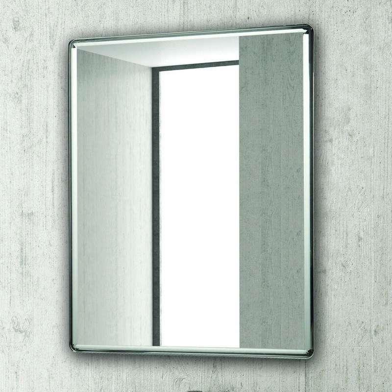 Specchio bagno 80x60 con finitura cromata KAM-1433 kamalu