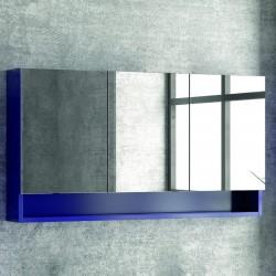 Specchio contenitore 120cm con 3 ante e ripiano aperto SP-120