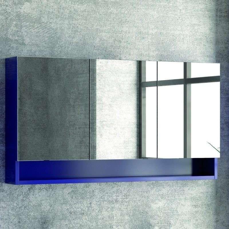 Specchio bagno 120cm con tre ante: Vendita Online | Kamalubagno