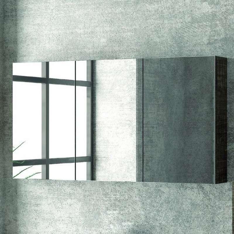 Specchio Bagno Contenitore Led.Specchio Contenitore 120cm Con Tre Ante Vendita Online Kamalubagno