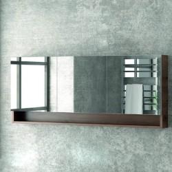 Specchio bagno 150cm contenitore con 3 ante e 2 ripiani SP-155BS