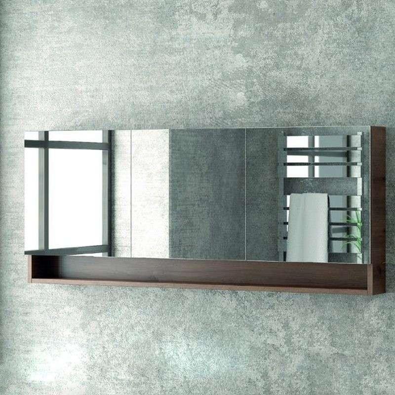 Specchio Bagno Con Ante.Specchio Contenitore 150cm Con Tre Ante Vendita Online Kamalubagno