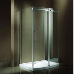 Box Doccia 80x80x120cm frameless con piatto acrilico e-shop kamalubagno