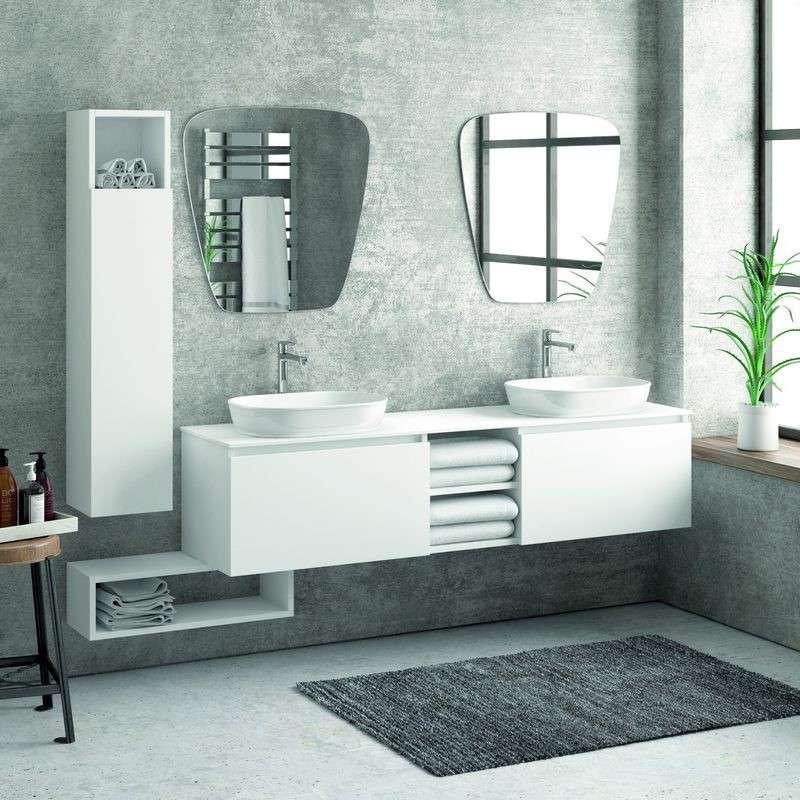 Composizione bagno doppio lavabo 175cm arredo bagno for Composizione bagno