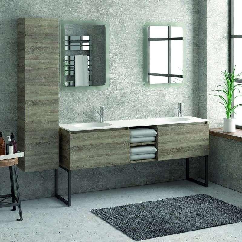 Composizione bagno doppio lavabo 175cm: Offerte Online | Kamalu Bagno