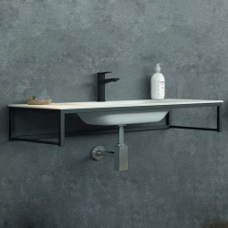 Lavabo 100cm con struttura metallica nera kamalu