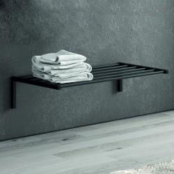 Mensola bagno colore nero in acciaio inox 65cm NICO-65M