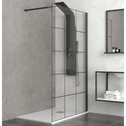 Walk in doccia 120cm colore nero NICO-W1000