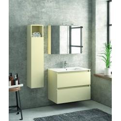 Composizione bagno sospesa 80cm: mobile, specchio e colonna TOD-80B