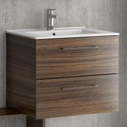 Mobiletto bagno sospeso 60cm con lavabo incasso EL-60A