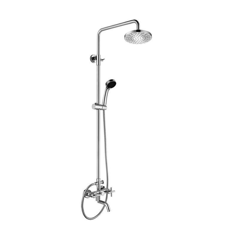 Gruppo colonna doccia con miscelatore a 2 maniglie kamalu for Gruppo doccia