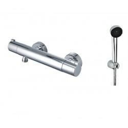 Miscelatore termostatico per doccia elegante con flessibile e doccetta KT4000