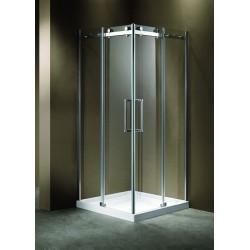 Box doccia Frameless 80x80 ad angolo Cristallo anticalcare spessore 8mm K130