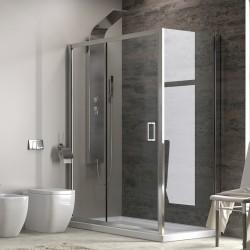 Box doccia 100x90 vetro trasparente altezza 180cm kamalubagno