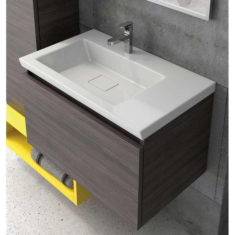 mobile bagno sospeso 70cm design moderno colori