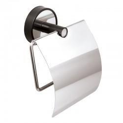 Porta carta igienica finitura nera in acciaio linea Kaman Nico-09