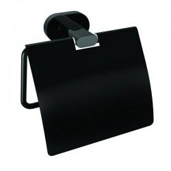 Porta carta igienica colore nero kamalubagno