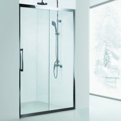 Nicchia doccia 100cm in acciaio anta scorrevole vetro 8mm K305