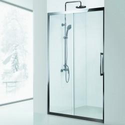 Porta doccia 110cm telaio in acciaio vetro 8mm K305