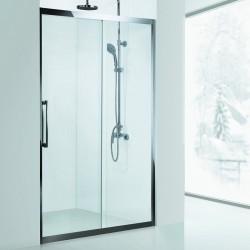 Porta doccia nicchia 130cm guide in acciaio vetro 8mm K305