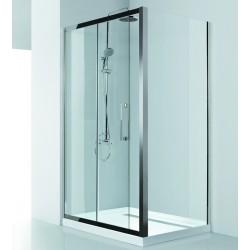 Box doccia 100x70 telaio in acciaio e cristallo 8mm KI4000S