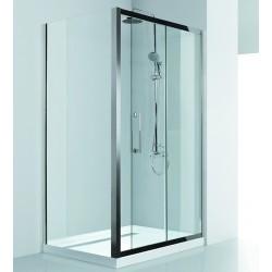 Box doccia 100x80 guide in acciaio vetro spessore 8mm KI4000S