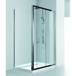 Box doccia angolare 120x80 in acciaio vetro spessore 8mm KI4000S