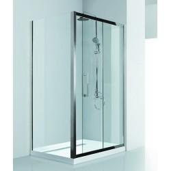 Box doccia 160x80 angolare in acciaio vetro spessore 8mm KI4000S