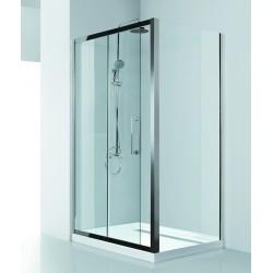 Box doccia 130x90 telaio in acciaio cristallo 8mm Kamalubagno
