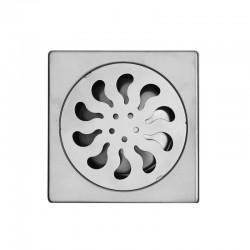 Griglia per sifone in acciaio 15x15cm esterno ed interno KA-V80