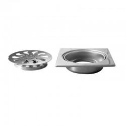 Griglia per sifone 9x9cm acciaio inox per esterni o interni KA-V80