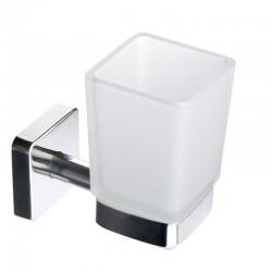 Porta spazzolini in accaio e vetro linea Clode-V20