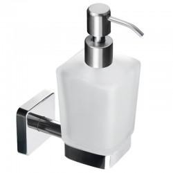 Dispenser bagno in acciaio e vetro linea Clode-V30