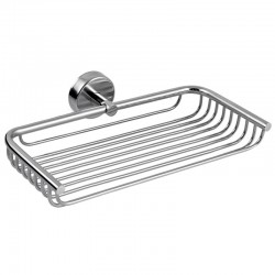 Portaoggetti doccia griglia 23cm in acciaio Kaman Monde-M60