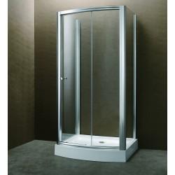 Cabina doccia a 3 lati 90x120x90cm con piatto acrilico e-shop kamalubagno