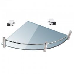 Mensola bagno semicircolare 25cm in vetro trasparente VITRO-80