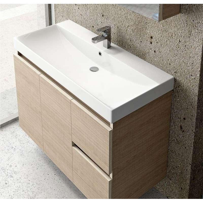 Mobile sospeso bagno 100cm design moderno offerta kamalu - Mobile bagno moderno sospeso ...