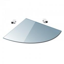 Pensile in vetro semicircolare 20cm VITRO-350