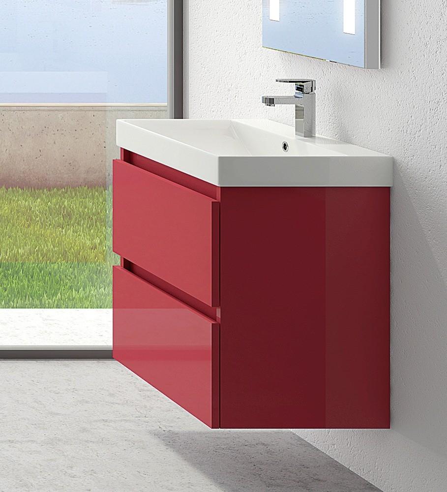 Mobili bagni sospesi bagni moderni con doppio lavabo - Mobile componibile bagno ...