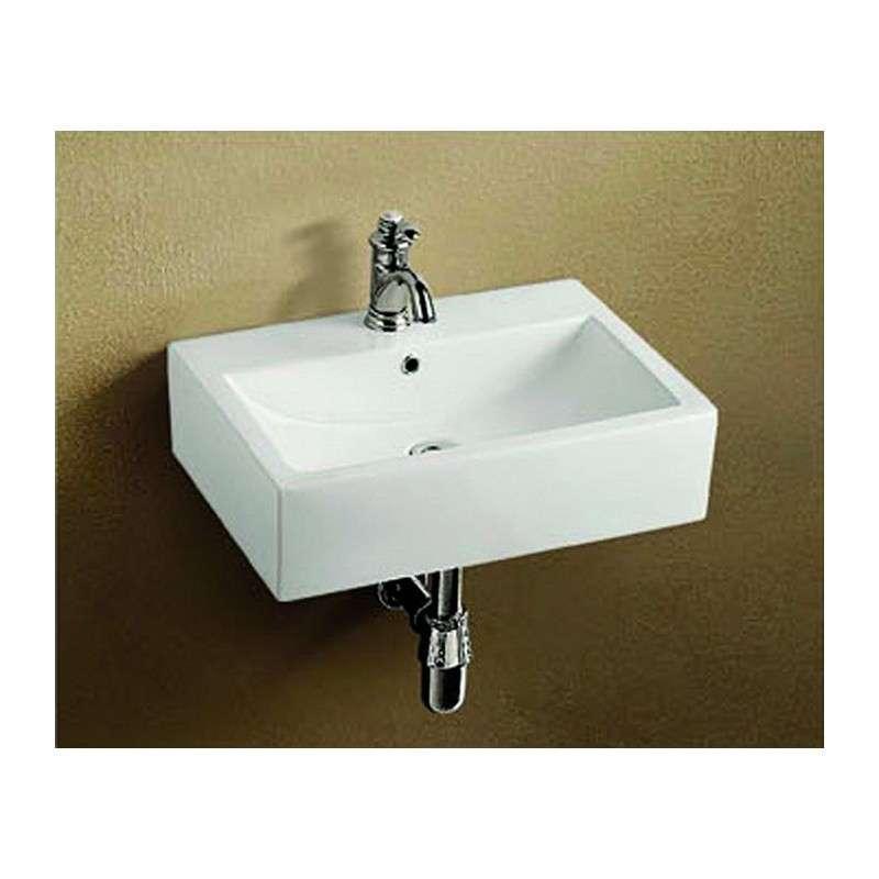 Lavabo sospeso rettangolare 60cm prezzi shock kamalu bagno for Prezzi lavabo bagno