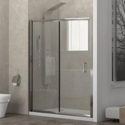Porta doccia 110cm con anta scorrevole e anta fissa K410N